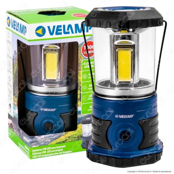 Velamp Compass Lanterna LED COB da Campeggio con Luce Dimmerabile