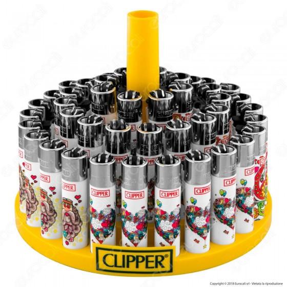 Clipper Large Fantasia Hippie 14 - Box da 48 Accendini