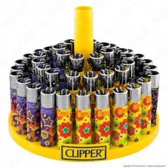 Clipper Large Fantasia Hippie 12 - Box da 48 Accendini