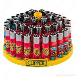 Clipper Large Fantasia Hippie 11 - Box da 48 Accendini