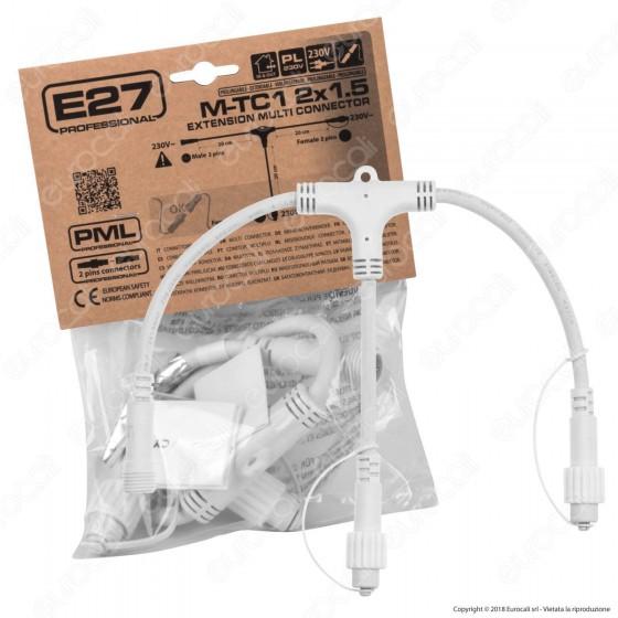 Connettore Multiplo a 2 Uscite Colore Bianco IP44