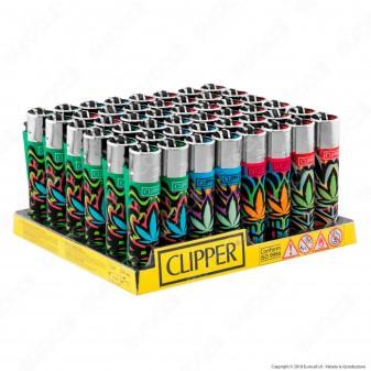 Clipper Large Fantasia Passion Leaves - Box da 48 Accendini