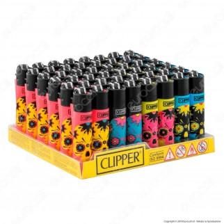 Clipper Micro Fantasia Fluominiskulls - Box da 48 Accendini