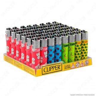 Clipper Micro Fantasia Fortuna Print - Box da 48 Accendini