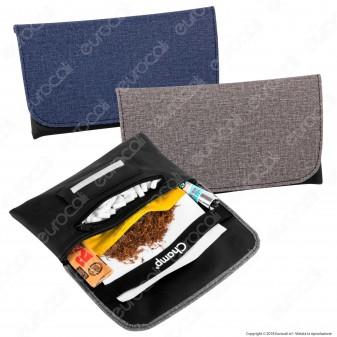 Champ Tobacco Pouch Portatabacco in Similpelle e Tessuto - 2 Colorazioni