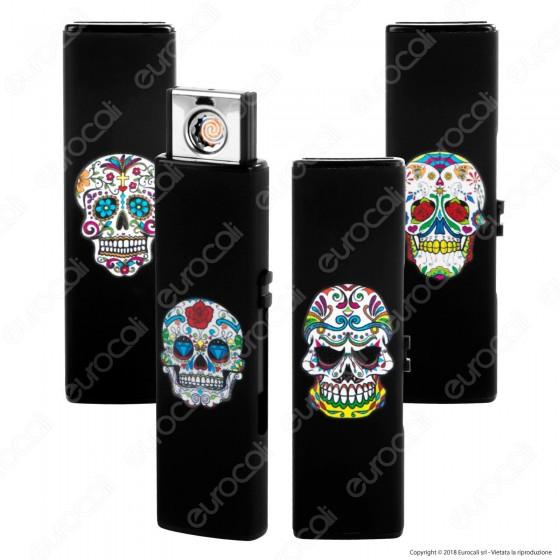Champ Black Skull Accendino USB Ricaricabile Antivento - 1 Accendino