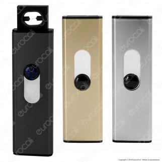 Champ Push Up ARC Lighter Accendino USB Antivento Ricaricabile - 1 Accendino