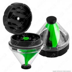 Grinder Tritatabacco 2 Parti con Miscelatore Colore Verde