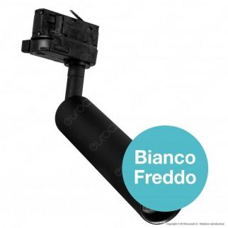 V-Tac PRO VT-407 Track Light LED COB 7W Colore Nero Chip Samsung - SKU 353 / 354 / 355