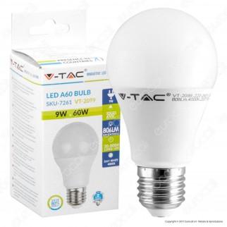 V-Tac VT-2099 Lampadina LED E27 9W Bulb A60 - SKU 7260 / 7261 / 7262