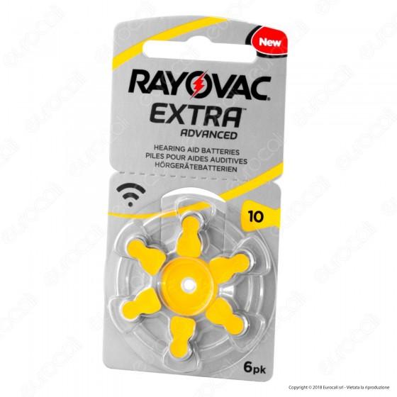 Rayovac Extra Advanced Misura 10 - Blister 6 Batterie per Protesi Acustiche