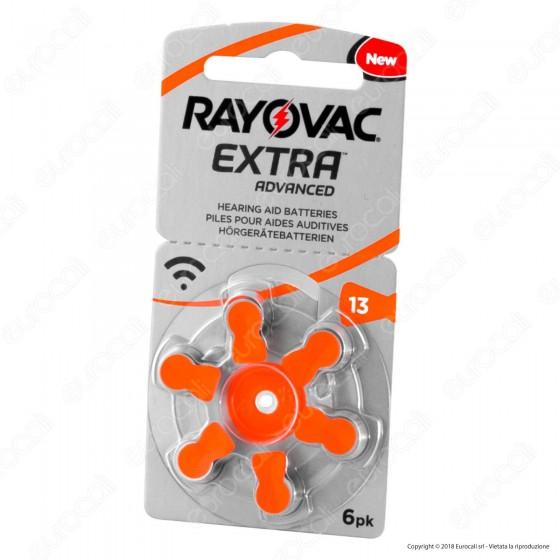 Rayovac Extra Advanced Misura 13 - Blister 6 Batterie per Protesi Acustiche