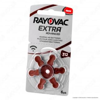 Rayovac Extra Advanced Misura 312 - Blister 6 Batterie per Protesi Acustiche