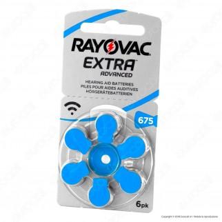 Rayovac Extra Advanced Misura 675 - Blister 6 Batterie per Protesi Acustiche