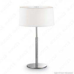 Ideal Lux Hilton TL2 Lampada da Tavolo in Metallo con Portalampada per Lampadine E14 - mod. 75532