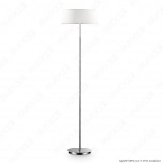Ideal Lux Hilton PT2 Lampada da Terra in Metallo con Portalampada per Lampadine E14