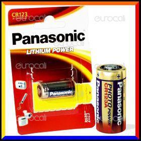 Panasonic Lithium Power CR123 Pila Al Litio - Blister 1 Batteria