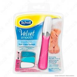 Scholl Velvet Smooth Kit Elettronico Nail Care System Lima per Mani e Piedi - Rosa