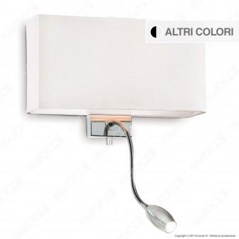Ideal Lux Hotel AP2 Lampada da Parete con Portalampada E27 con LED Esterno Orientabile - mod. 35956