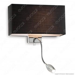 Ideal Lux Hotel AP2 Lampada da Parete con Portalampada per Lampadina E27 con LED Esterno Orientabile