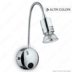 Ideal Lux Flex AP1 Lampada da Parete in Metallo con Portalampada per Lampadine GU10 Flessibile - mod. 305 / 6161