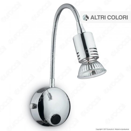 Ideal Lux Flex AP1 Lampada da Parete in Metallo con Portalampada per Lampadine GU10 Flessibile