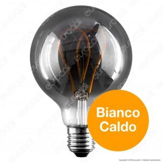 Daylight Lampadina LED COB E27 5W Globo G95 con Vetro Oscurato Dimmerabile