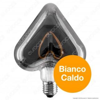 Daylight Lampadina LED COB E27 5W Cuore con Vetro Oscurato Dimmerabile