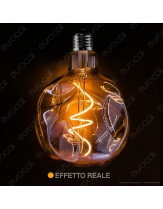 Daylight Lampadina LED COB E27 5W Globo G125 Effetto Erosione Naturale Dimmerabile