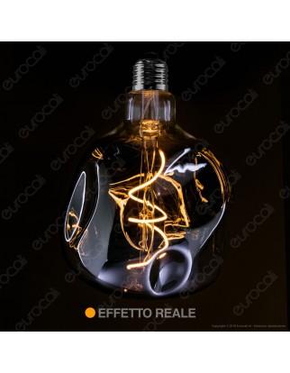 Daylight Lampadina LED COB E27 5W Globo G125 Effetto Erosione Naturale Oscurata Dimmerabile