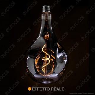 Daylight Lampadina LED COB E27 5W Bulb A165 Effetto Erosione Naturale Oscurata Dimmerabile