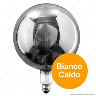Daylight Lampadina LED COB E27 5W Globo G200 con Vetro Oscurato Dimmerabile