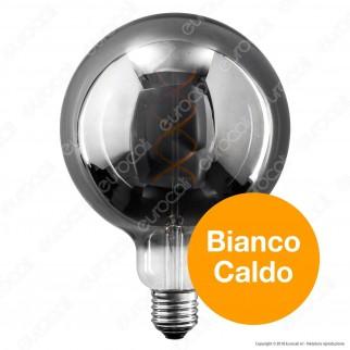 Daylight Lampadina LED COB E27 5W Globo G125 con Vetro Oscurato Dimmerabile