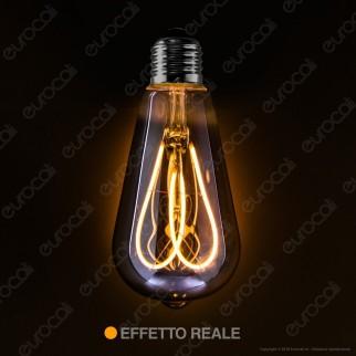 Daylight Lampadina LED COB E27 5W Bulb ST64 con Vetro Oscurato Dimmerabile