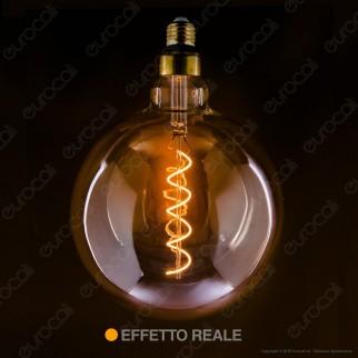 Daylight Lampadina LED COB E27 5W Globo G200 con Vetro Ambrato Dimmerabile