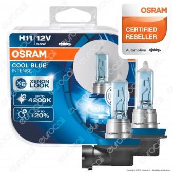 Osram Cool Blue Intense Effetto Xenon - 2 Lampadine H11