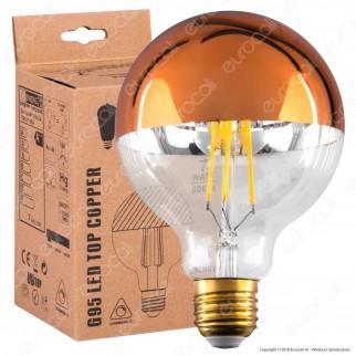 Daylight Lampadina E27 LED Filamento 7W Globo G95 con Calotta Ramata Dimmerabile
