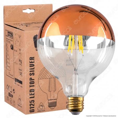 Daylight Lampadina E27 Filamenti LED 7W Globo G125 con Calotta Ramata Dimmerabile - mod. 700175.00A