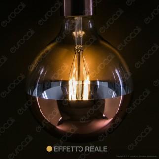 Daylight Lampadina E27 LED Filamento 7W Globo G125 con Calotta Ramata Dimmerabile