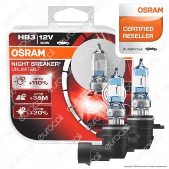 Osram Night Breaker Unlimited Alta Visibilità - 2 Lampadine HB3
