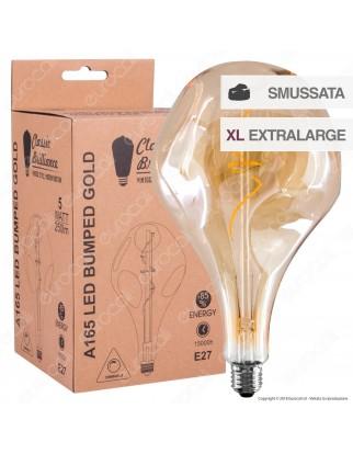 Daylight Lampadina E27 Filamento LED a Spirale 5W Bulb A165 Effetto Erosione Naturale Dimmerabile