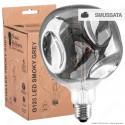 Daylight Lampadina E27 Filamento LED a Spirale 5W Globo G125 Effetto Erosione Naturale Oscurata Dimmerabile - mod. 700208.00A