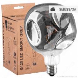 Daylight Lampadina E27 Filamento LED a Spirale 5W Globo G125 Effetto Erosione Naturale Oscurata Dimmerabile