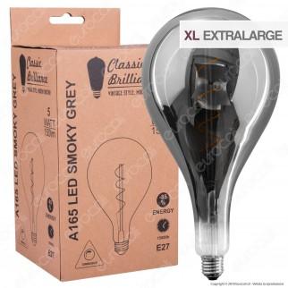 Daylight Lampadina E27 Filamento LED a Spirale 5W Bulb A165 con Vetro Oscurato Dimmerabile