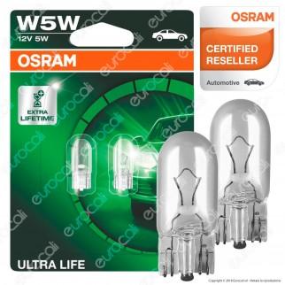 Osram Ultra Life Lunga Durata - 2 Lampadine W5W