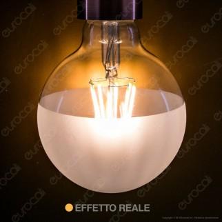 Ideal Lux Lampadina E27 Filamenti LED 8W Globo G95 con Calotta Satinata