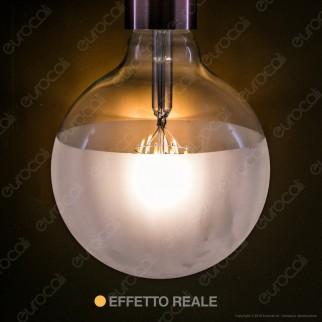 Ideal Lux Lampadina E27 Filamenti LED 8W Globo G125 con Calotta Satinata