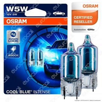 Osram Cool Blue Intense Effetto Xenon - 2 Lampadine W5W