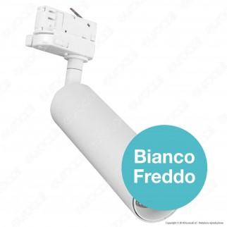 V-Tac PRO VT-415 Track Light LED COB 15W Colore Bianco Chip Samsung - SKU 356 / 357 / 358