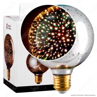 Girard Sudron Lampadina E27 Filamento LED Cosmos 4W Globo Vetro Specchiato Effetto 3D